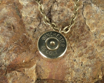 Winchester Colt 45 Casing Necklace
