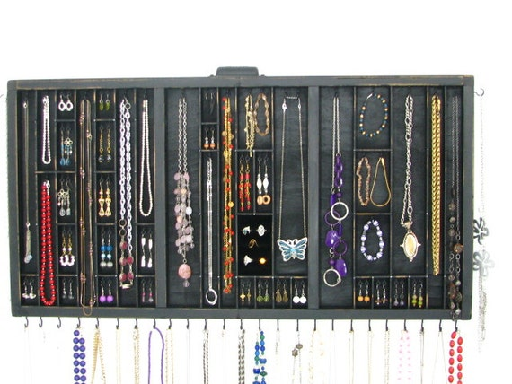 Printers Drawer Jewelry display with ring cubby