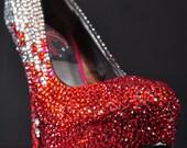 Valentine's Day Crystals Custom High Heel Pump Handmade 2014