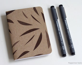 Single Mini Notebook - Leaves Design