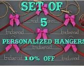 Set of 5 Personalized Hangers - Bridesmaid Hanger