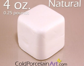 Cold Porcelain Clay 4oz. - Natural - Cold Porcelain Art