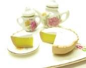 Lemon Meringue Pie Miniature Polymer Clay Dollhouse Dessert 1 Inch Scale
