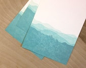 Blue Ridge Mountains - Black Balsam- Gradient Letterpress Print