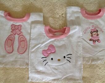 Various Pink Trim Pullover Rabbit-skin Bibs