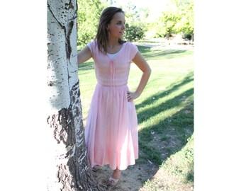 Peach Dress Vintage