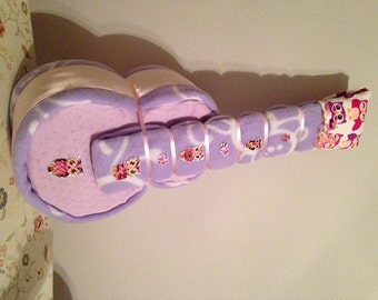 Girl Diaper Guitar - Unique Baby Shower Gift