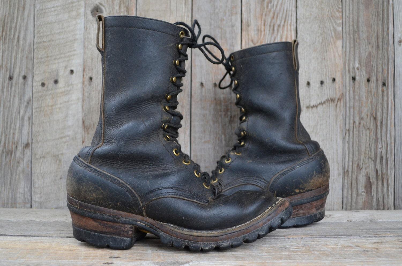 vintage whites spokane smokejumper lineman logger work boots