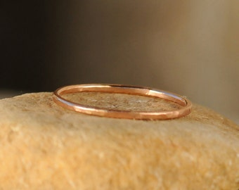 Thin Stacking Ring - Stack Ring - Rose Gold Stacking Ring - Thin Stackable Ring