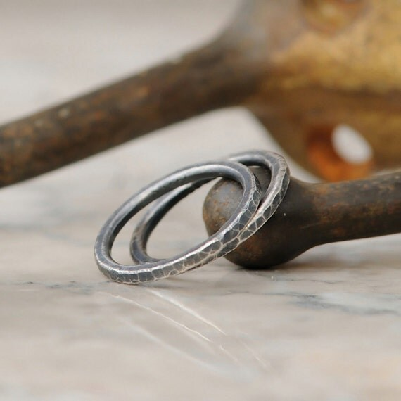 Stacking Rings - Set of Two Fine Silver Handmade Stackable Rings