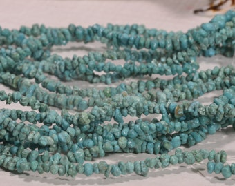 Turquoise Beads 4mm Nuggets Natural Gemstone Beads Jewelry Making Supplies