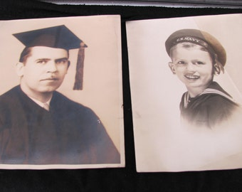 Vintage Photos Lot of 2 Black and White 8X10s from The 1940's