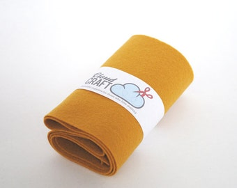 100 Percent Wool Felt Roll - 12x90cm - Colonel