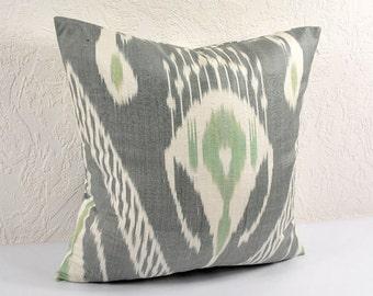 Ikat Pillow, Hand Woven Ikat Pillow Cover 514-1aa1, Ikat throw pillows, Designer pillows, Decorative pillows, Accent pillows