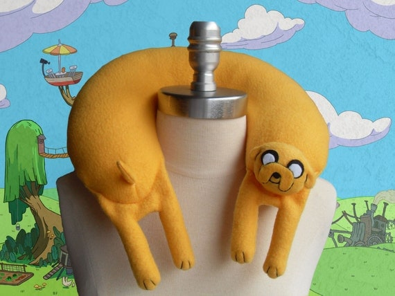 Jake the Dog from Adventure Time Travel Neck Pillow