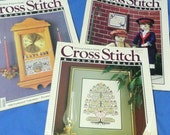 reserved 3 Cross Stitch & Country Craft Magazines,Dolls, Family Tree, Gifts, Sampler