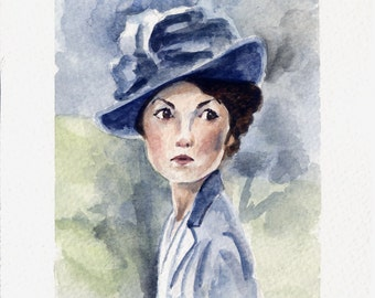 Lady Mary Crawley - Downton Abbey - 5x7 inches - Giclèe Fine Art Print