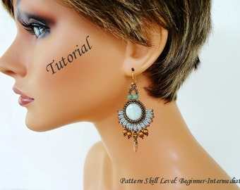 ROMANTIC beaded earrings beading tutorial beadweaving pattern seed bead beadwork jewelry beadweaving tutorials beading pattern instructions
