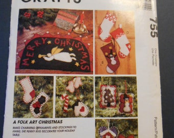 McCalls 755, Home Decor, Christmas, ornaments