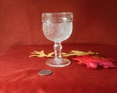 Vintage Clear Indiana Sandwich Glass Wine Stem