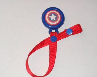 Captain America Pacifier Clip