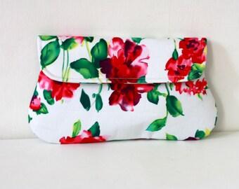 Pink Floral Clutch, spring summer wedding clutch, bridesmaid, clutch, bridesmaid gft