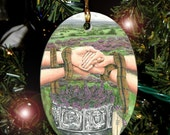 Heather Celtic Tree Ogham Voice of the Trees Ornament