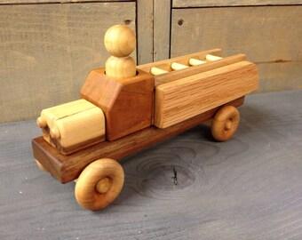 Wooden Toy Firetruck