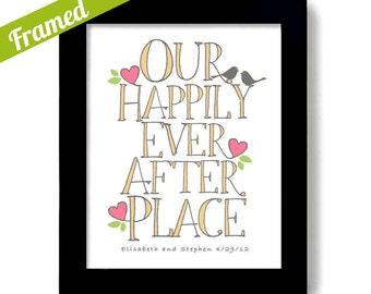 Personalized Engagement Print, Wedding Love Birds, Unique Wedding Gift