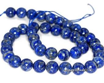 10mm Azura Lapis Lazuli Gemstone Blue Round 10mm Loose Beads 15.5 inch Full Strand (90147166-257)