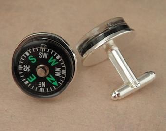 ZOMBIE APOCALYPSE Compass Cufflinks