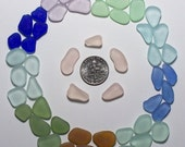 Circle of Colors Cornflower Pink Cobalt etc JQ Genuine Beach Sea Glass Lot (B3) Free US Shipping