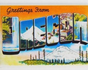 Greetings from Oregon Fridge Magnet