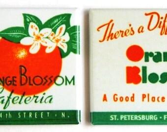 Orange Blossom Cafeteria Fridge Magnet Set