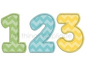 Happy Applique Numbers - Numbers 0-9 - 3 Sizes - Machine Embroidery Design - INSTANT DOWNLOAD