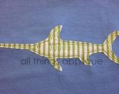 Swordfish Applique Design - Machine Embroidery Design - 4 Sizes - INSTANT DOWNLOAD