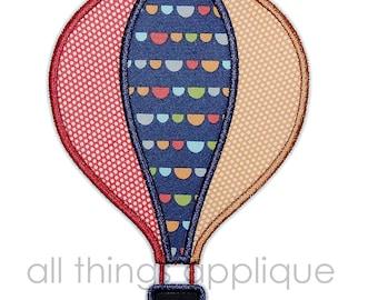 Hot Air Balloon Applique Design - 4 Sizes - INSTANT DOWNLOAD