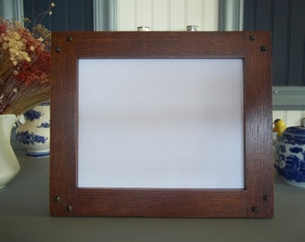 """Arts & Crafts 8"""" x10"""" Quartersawn White Oak Frame With Ebony Pins Mission Style Handcrafted/Handmade"""