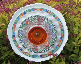 Plate Art Flower Decor for the Garden