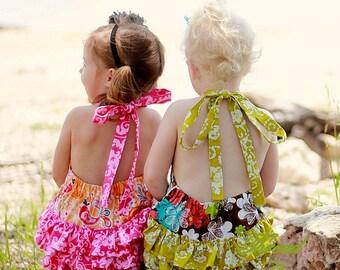 Girls Sunsuit Sewing Pattern, Pillowcase Romper, Infant Sunsuit Pattern