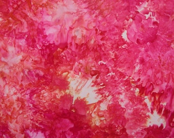 Ice Dyed Fabric, Hand Dye, Boldly Pink, Fat Quarter (MH) #106