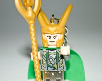128GB Loki USB Flash Drive with Key Chain