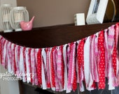 Pink and Red Rag Ribbon Banner
