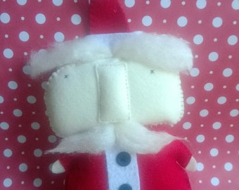 Stuffed Santa Claus Plush Plushie Softie Stuffed Animal  Ooak Christmas Gift Santa Clause Holiday Home Decor Gift