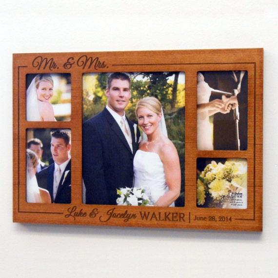 Personalised Photo Frame Wedding Gift: Personalized Wedding Collage Picture Frame: Wedding Gift