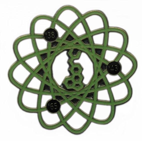 Grateful Dead LSD Albert Hofmann Molecular Molecule Lapel Hat Pin