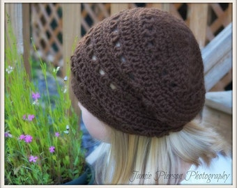 Crocheting PATTERN Slouchy Hat Child to Teen Size