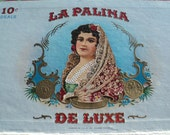 Vintage Cigar Box, LA PALINA DELUXE Cigar Box with lithographics from the Congress Cigar Company, Factory Made in the 1st Dist., New Jersey