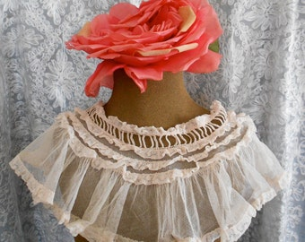 1930's Lace and Silk Collars