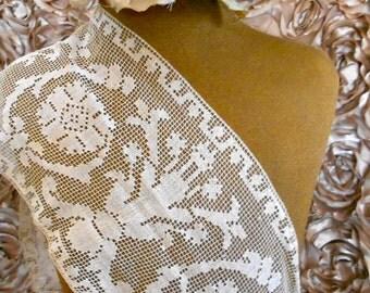 Victorian Cream Filet Lace